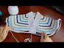 Пуловер с карманом из остатков пряжи Часть 1 Обзор Расчеты