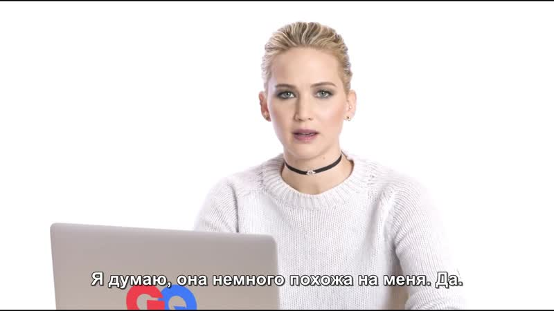 Дженнифер Лоуренс под прикрытием на Твиттер, Инстаграм, Reddit GQ (русские субтитры)