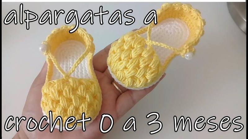 Alpargatas en punto garbanzo -bebe-modelo gloria-0 a 3 meses