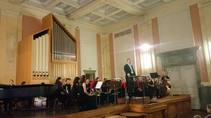 Вальс для флейты и духового оркестра Дирижер Александр Голиков Солистка Анна Щулькина