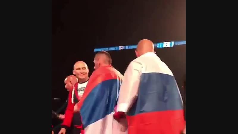 Федор Емельяненко после победоы