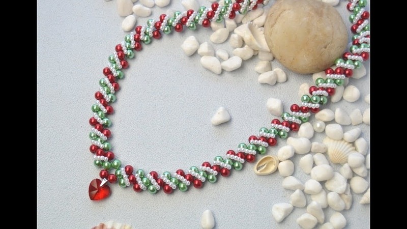 PandaHall Christmas Jewelry Making Video on Glass Pearl Beads Necklace