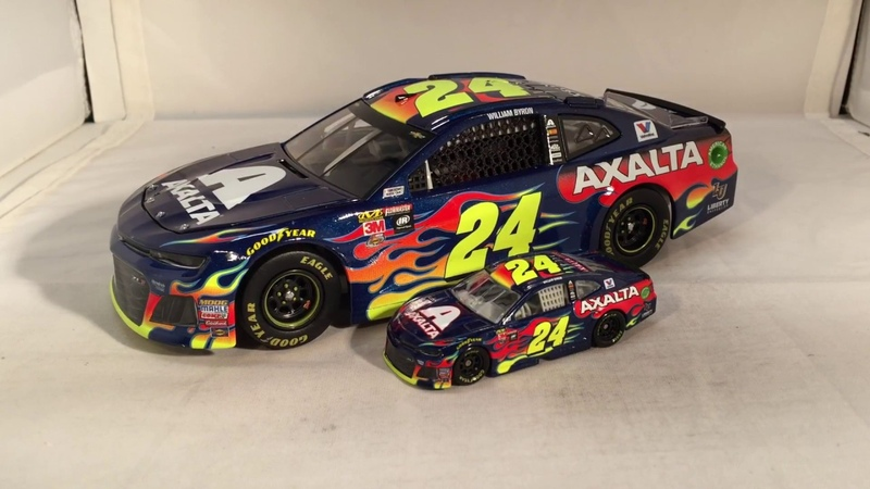 Review: 2018 William Byron 24 Axalta Chevy Camaro 1/24 NASCAR Diecast, New Camaro Cup Mold