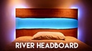 Live Edge Epoxy River Headboard or Table with LED Lights How To Build Woodworking