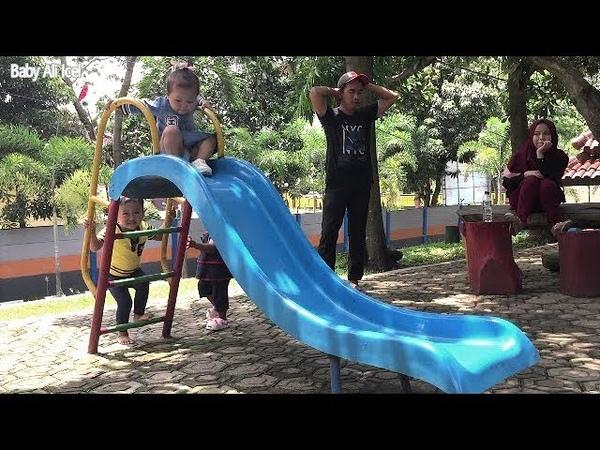 Mainan Anak OutDoor PlayGround Di Samsat Baby Ali Icel Main Perosotan Asik Menyenangkan
