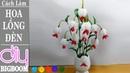 Hướng dẫn làm Hoa Lồng Đèn bằng vải voan trang trí bàn cực đẹp DBB