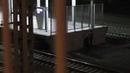Станция МЦК Крымская . Зайцы не смогли залезть на платформу.
