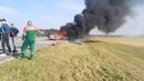 На трассе М5 В Гомельском районе горел Mercedes