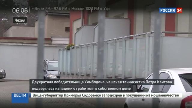 Новости на Россия 24 • Ограбленная теннисистка Квитова прооперирована в Брно