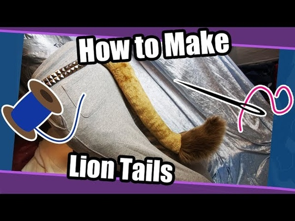 Tutorial 58 Lion Tails For Fursuits Cosplay PDF Pattern