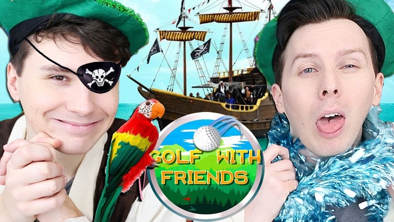 BATTLE FOR THE BOOTY - Dan and Phil Play Golf With Friends 7