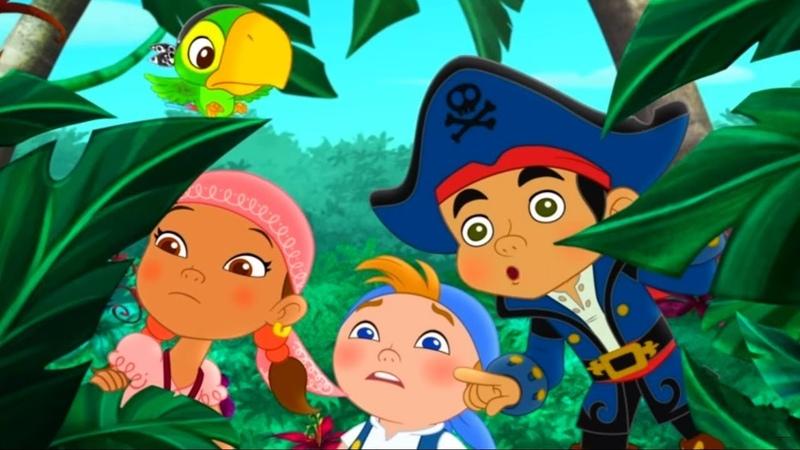 Джейк и Пираты Нетландии Нападение пиратских пираний Марш чудищ из лавы серия 13 сезон 4 Disney