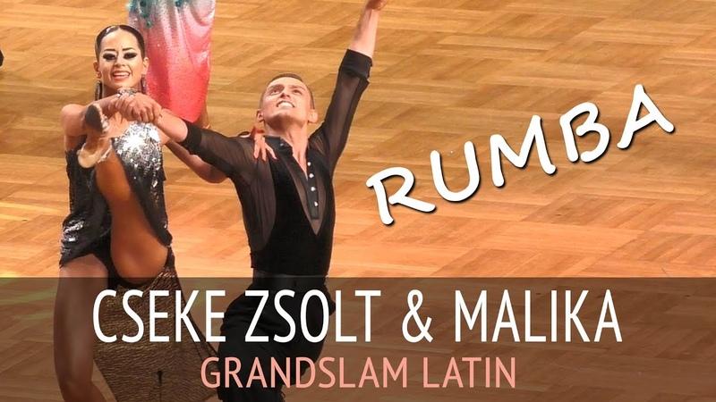 Cseke Zsolt Sandor Malika Dzumaev Румба GOC2018 GrandSlam LATIN Четверьфинал