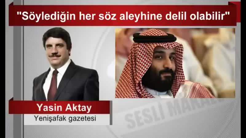 """Yasin Aktay _ """"Söylediğin her söz aleyhine delil olabilir"""""""