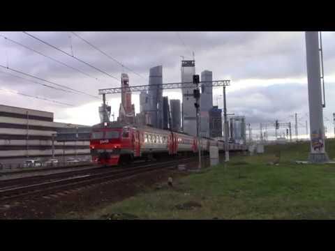 Электропоезд ЭР2Р-7024 перегон Фили-Москва-Пассажирская-Смоленская