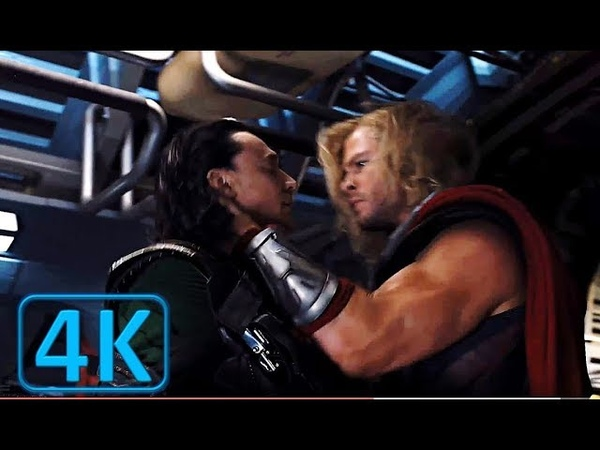 Thor's Coming For Loki The Quinjet Scene ¦ The Avengers 2012 Movie Clip Blu ray 4K