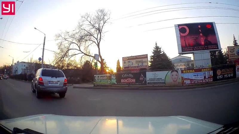 Лихой водитель на дорогах Краматорска