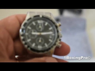 Unboxing MEGALITH Brand Men Watch Chronograph Stainless