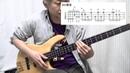 【TAB譜スロープレイ】資生堂unoのCMの超絶スラップベースフレーズを弾い12390