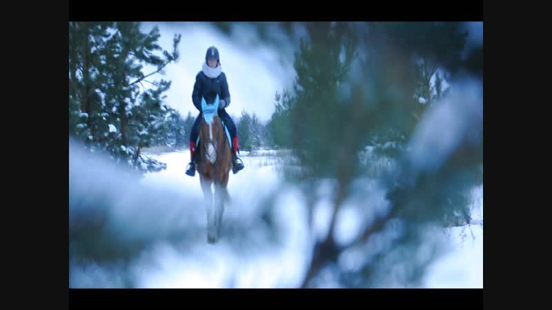 Тренировка Марии Казаковой и коня по кличке Гонг/ декабрь 2018