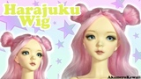 How to Cute Harajuku inspired Doll Wig - Pastel Yarn Wig Tutorial