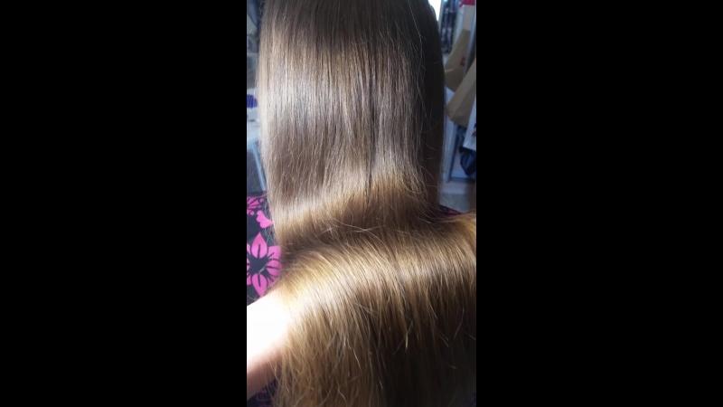 кератиновое выпрямление волос. состав смыт