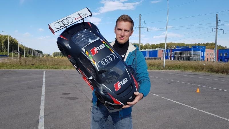 Тест-драйв БЕШЕНОЙ AUDI R8 ... 100 км/ч. Драг против TRAXXAS XO-1
