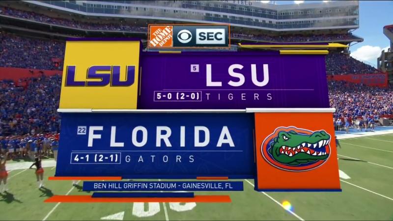 NCAAF 2018 / Week 06 / (5) LSU Tigers - (22) Florida Gators / 2Н / EN