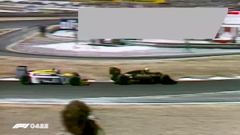 Senna Pips Mansell (Spanish GP 1986)