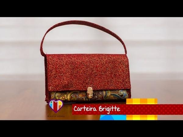 Carteira de tecido Brigitte. Beautiful fabric clutch tutorial. How to do a fabric clutch