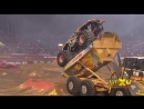 Max-D Double Backflip attempt - Monster Jam World Finals XIV Encore 2013 - Max-D