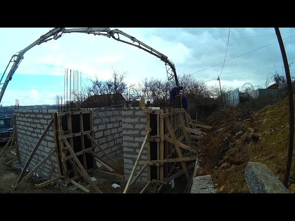 Заливка бетона в несущие стены в Севастополе