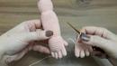 Amigurumi zeynep bebek 3.bölüm kolay parmak ve kol yapılışı ..