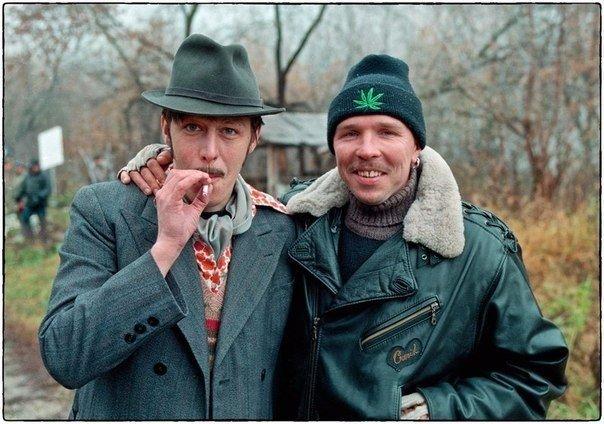 Михаил Ефремов и Гарик Сукачев (1996 год)