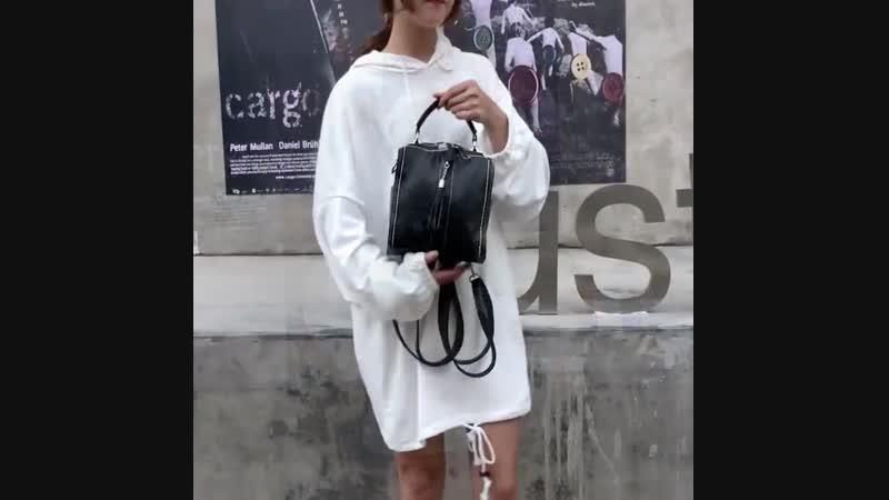 Резиновый рюкзак с кожаной ручкой Tassel высокого качества