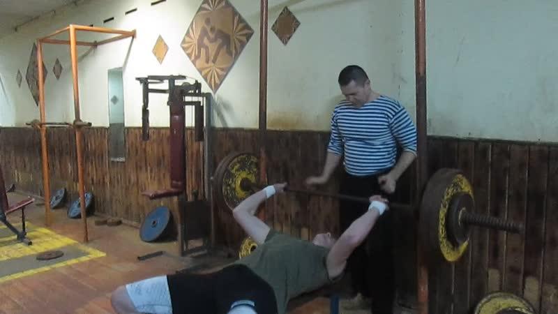 Жим с остановкой 110 кг Никита Гамов