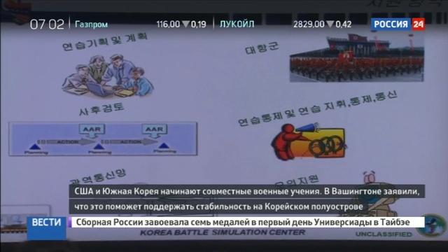 Новости на Россия 24 США и Южная Корея начинают совместные военные учения