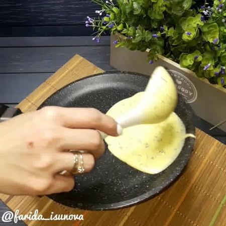 Блюда для перекуса • Творожные блинчики с зеленью