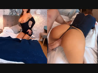 Behindthemaskk - horny young wife hard fucked in bedroom (pov/amateur/blowjob/big tits/минет/порно/домашнее/от первого лица)