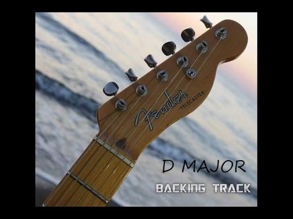 D Major Exited Funk Guitar Backing Track 100 Bpm