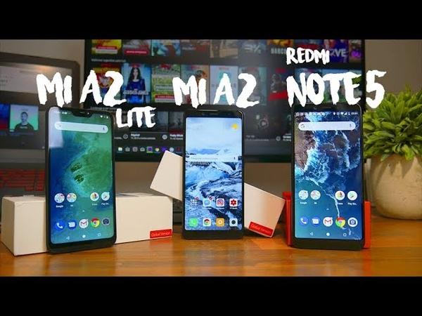 Xiaomi Mi A2 vs Xiaomi Redmi Note 5 vs Xiaomi Mi A2 Lite - Comparativo Português