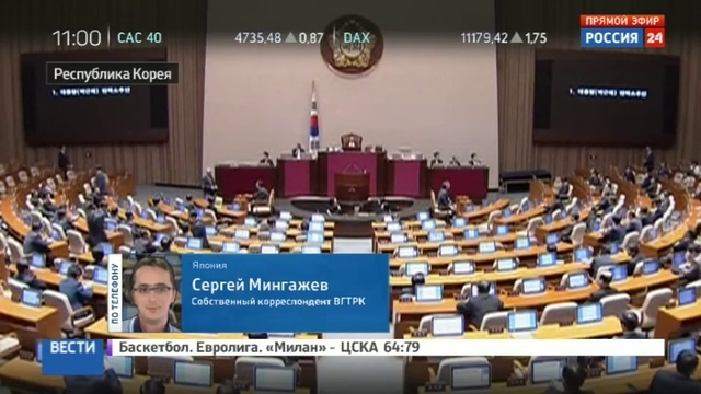 Новости на Россия 24 В Южной Корее депутаты объявили импичмент президенту