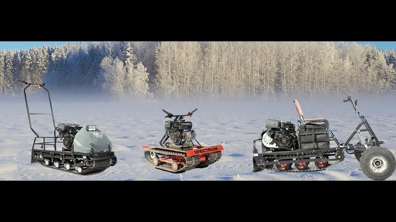 Обзор новой линейки мотобуксировщиков Бурлак