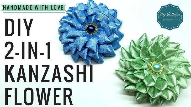 D.I.Y. 2-in-1 Kanzashi Flower   MyInDulzens