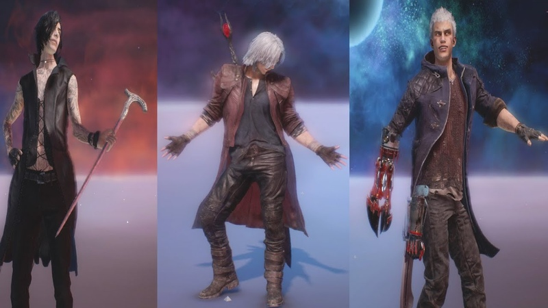 Devil May Cry 5 - All Taunts - 3 Million Red Orbs Taunts - All Characters Taunts (DMC5 2019)