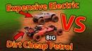 Great Big Petrol RC Car First Bash With Massive Electric RC Car - Rovan 29cc Baja vs Traxxas X-Maxx
