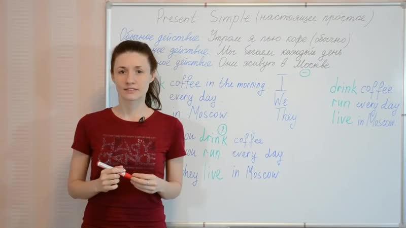 Myefe Английская Грамматика Present Simple Настоящее простое время Английская грамматика Видеоуроки Myefe
