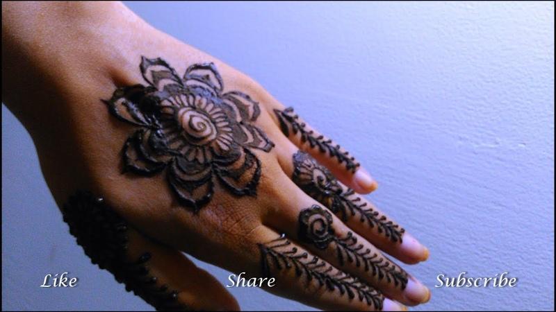 Mehendi Rose Floral Design | Henna Gulf Rose Flower Design || by Fankaara diaries