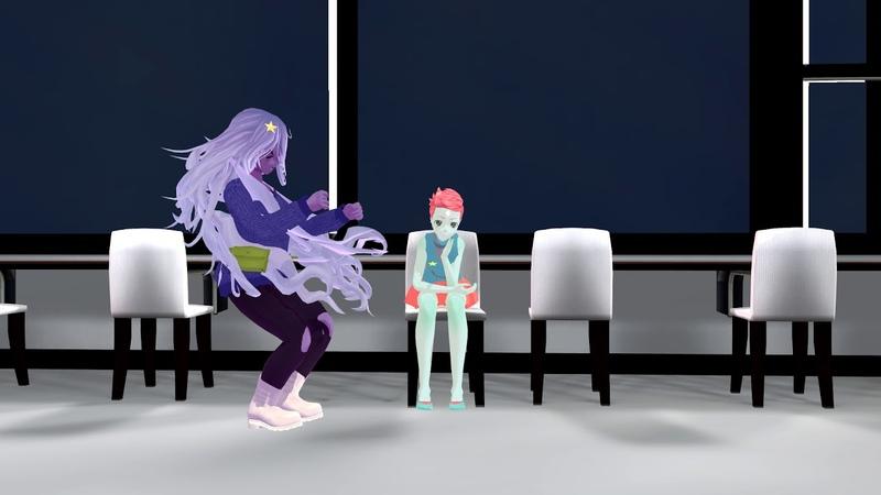 Steven Universe, break dance Amethyst and Pearl.MMD