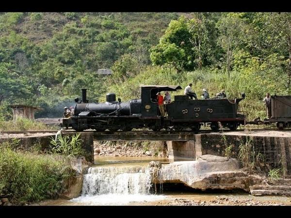 Древние Паровозы на угле Бирманская железная дорога Странник КН